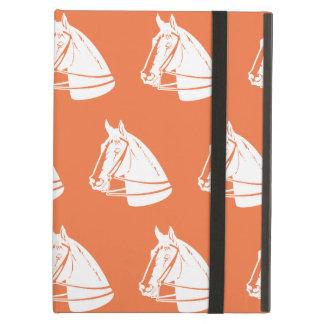 Blanco anaranjado de los caballos