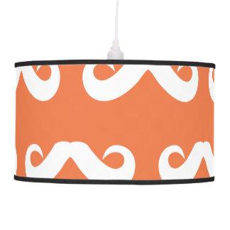 Blanco anaranjado del bigote lámpara de techo