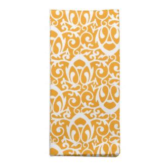 Blanco anaranjado del modelo barroco servilleta