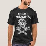 Blanco animal de la camiseta de la liberación