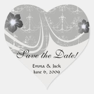 blanco apenado del negro de la lámpara calcomania corazon personalizadas