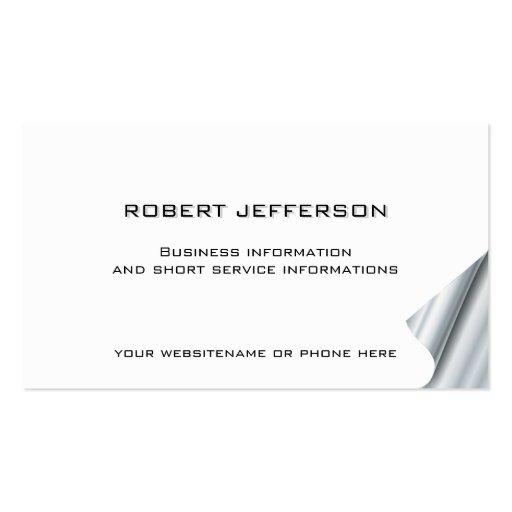 Blanco asesor de las finanzas del abogado de la tarjetas de visita