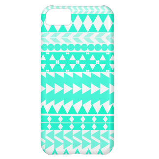 Blanco azteca de la turquesa brillante funda para iPhone 5C