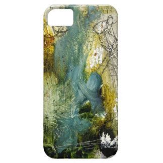 Blanco azul abstracto hermoso y horrible del oro iPhone 5 carcasas