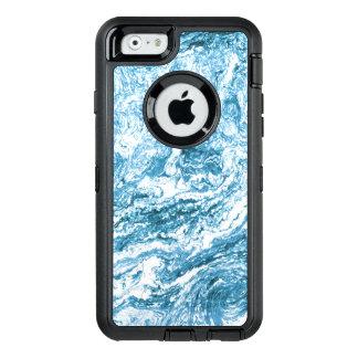 Blanco azul abstracto veteado del diseño el | funda otterbox para iPhone 6/6s