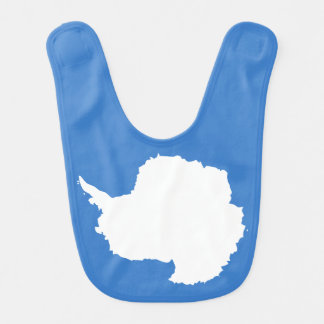 Blanco azul de la bandera de Graham Bartram la Babero Para Bebé