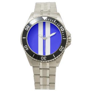 Blanco azul de la cobra de Shelby que compite con Relojes De Pulsera