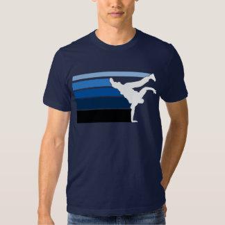 Blanco azul de la pendiente de BBOY Playeras