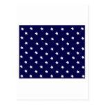 Blanco azul de las estrellas los regalos de Zazzle Postal