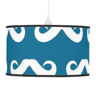 Blanco azul del bigote lámpara de techo