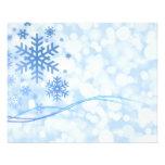 Blanco azul del diseño del copo de nieve del navid tarjetones