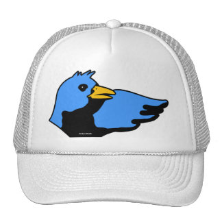 Blanco azul del gorra del amarillo del pájaro de L