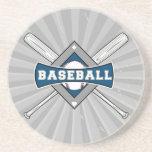 blanco azul gris del logotipo del diamante de béis posavasos cerveza