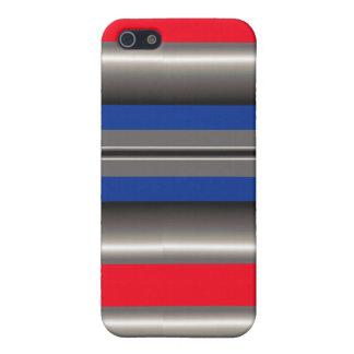 Blanco azul rojo iPhone 5 funda