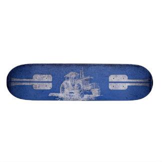 Blanco azul y engrasado monopatin