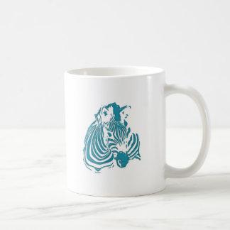 Blanco azulverde de la impresión del extracto de l taza