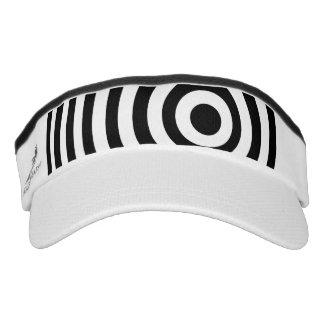 Blanco blanco y negro excéntrica visera