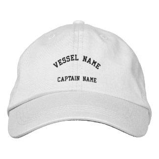 Blanco bordado buque del casquillo de los capitane gorras bordadas
