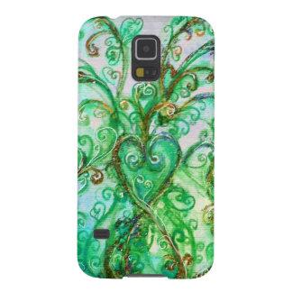 Blanco brillante del verde del trullo de los FLOUR Fundas De Galaxy S5