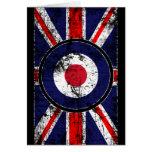 Blanco BRITÁNICA Union Jack de Mods de la blanco Tarjeta De Felicitación