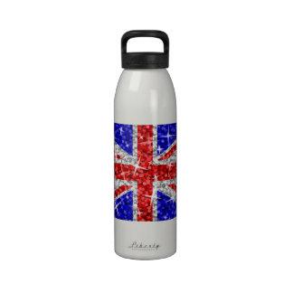 Blanco BRITÁNICO de la botella de agua del Glitz