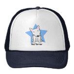 Blanco bull terrier de la estrella de Kawaii Gorros