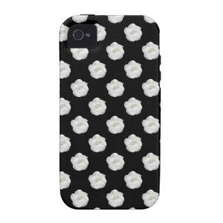 Blanco Camelia de los Cocos Case-Mate iPhone 4 Carcasa