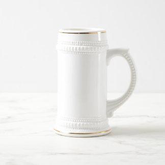 Blanco/cerveza Stein del oro Taza De Café