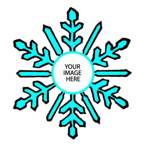 Blanco ciánico del copo de nieve 1 del ornamento d adorno fotoescultura