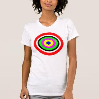 Blanco, círculos coloreados camiseta