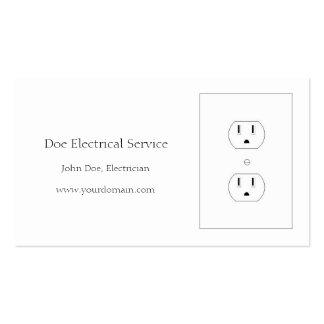 Blanco clásico del electricista/del contratista tarjetas de visita
