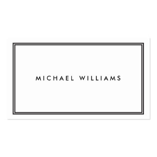 Blanco clásico elegante tarjetas de visita