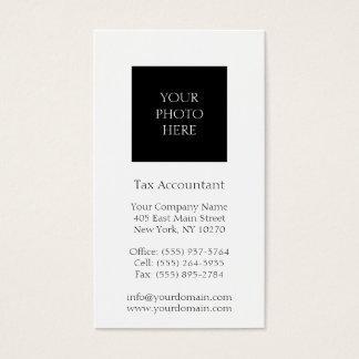 Blanco clásico tirado cabeza del contable del tarjetas de visita