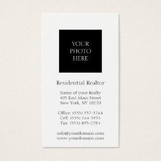 Blanco clásico tirado cabeza residencial del tarjetas de visita