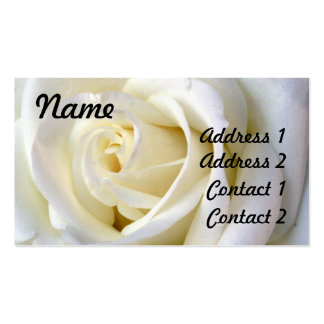 Blanco color de rosa, tarjeta del perfil tarjetas de visita