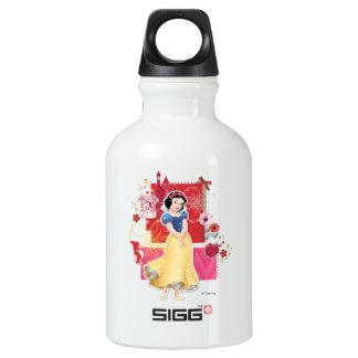 Blanco como la nieve - alegre y el cuidar botella de agua