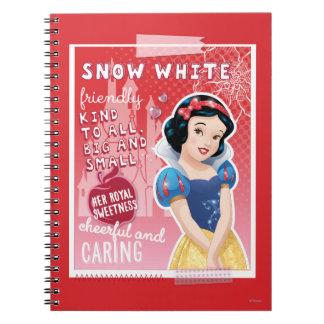 Blanco como la nieve - su dulzor real libro de apuntes con espiral