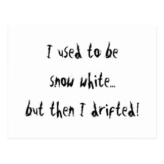 Blanco como la nieve tarjetas postales