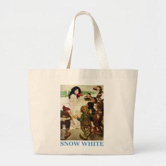 Blanco como la nieve y los siete enanos bolsa de tela grande