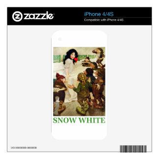 Blanco como la nieve y los siete enanos skins para iPhone 4S
