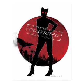Blanco condenado Catwoman Tarjetas Postales
