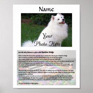 Blanco conmemorativo del mascota del puente del ar póster
