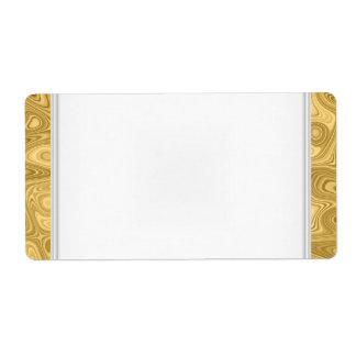 Blanco conocido del oro de la etiqueta de la etiqu etiquetas de envío