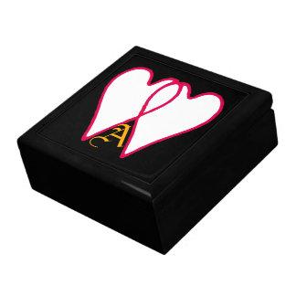Blanco de 2 corazones junto los regalos de Zazzle  Caja De Recuerdo