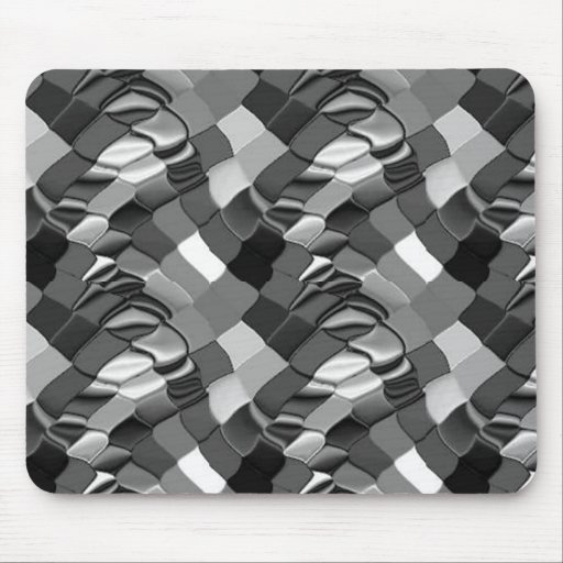 Blanco de Abstract_Black Alfombrillas De Ratón