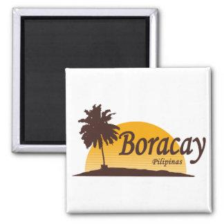 Blanco de Boracay Imán Cuadrado