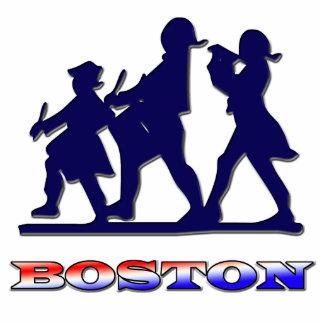 Blanco de Boston y azul rojos Esculturas Fotograficas