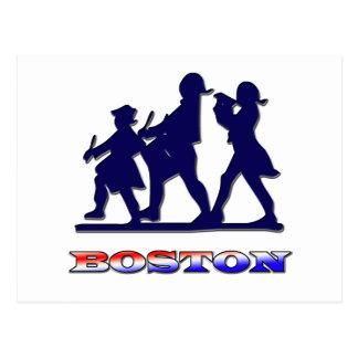 Blanco de Boston y azul rojos Tarjetas Postales