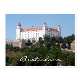 blanco de Bratislava del castillo Postales