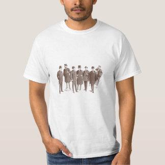 Blanco de Brown de la moda de los hombres de los Playera